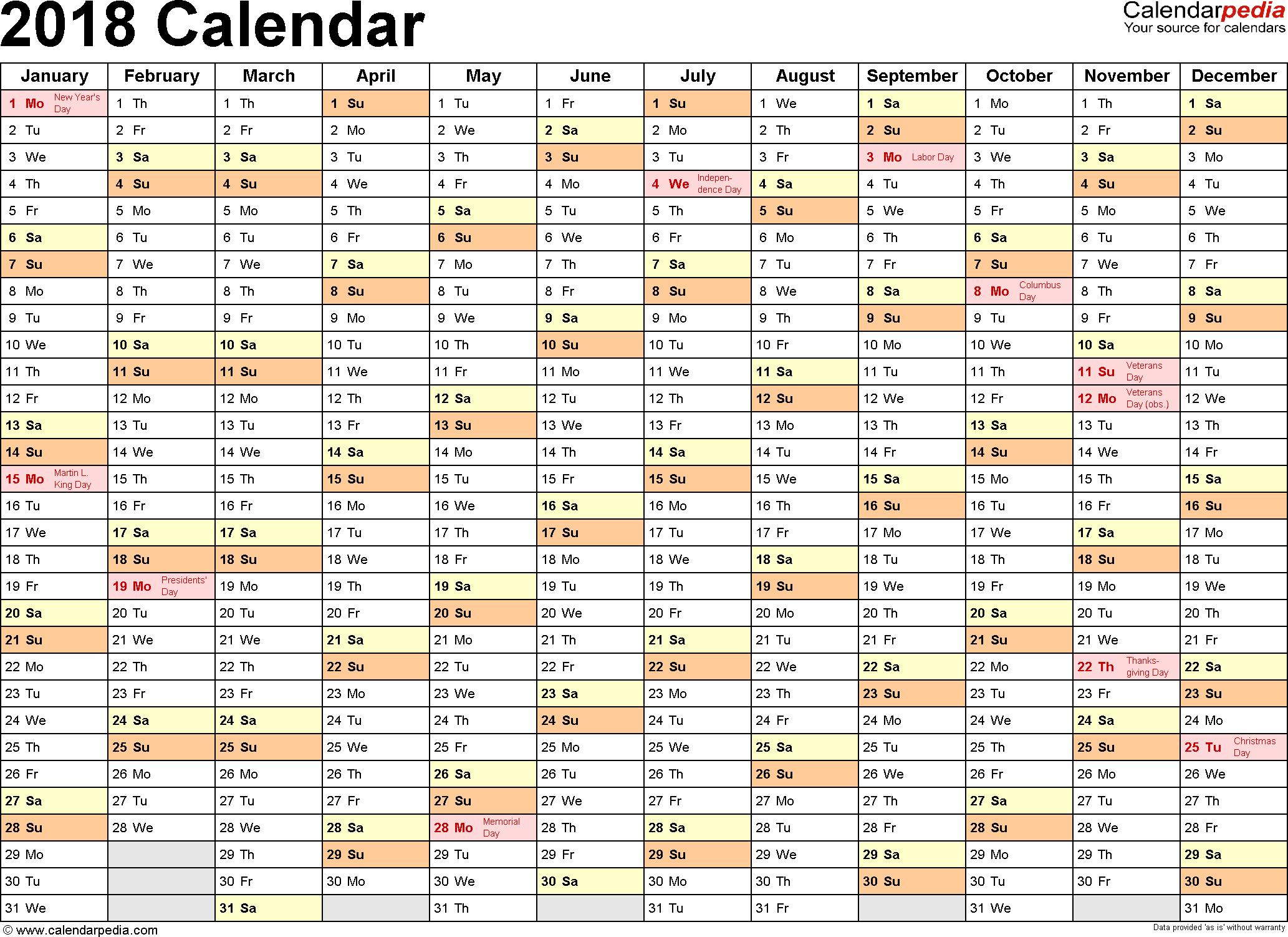 Calendar 2018 In Limba Romana Printabile | Calendar Template 2018