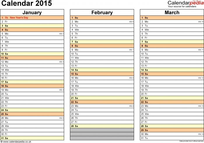 Editable Yearly Calendar 29016 * Calendar Printable Template