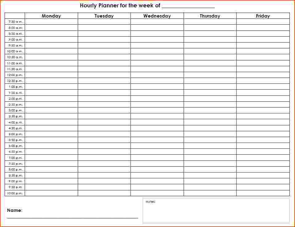Free Daily Hourly Calendar 2018 Printable | 2018 Calendar Template