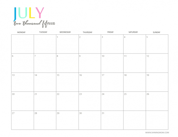 Moms Lifeboat June 2016 Calendars * Calendar Printable Template