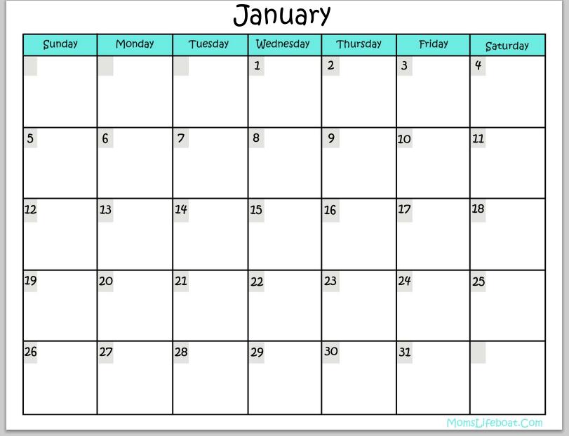 Moms Life Boat Calendar | Calendar Template 2017