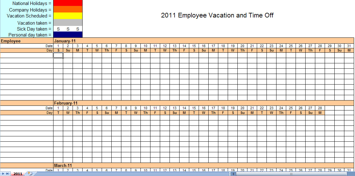 employee monthly work schedule template