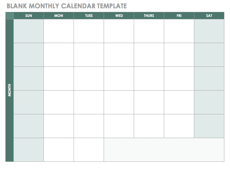 Blank Monthly Employee Schedule Template Calendar Template 2018