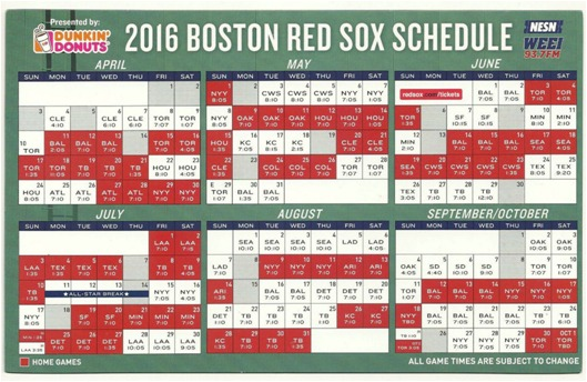 April 11, 2016 Boston Red Sox – MagSchedule