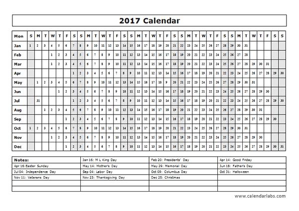 2017/2018 Academic Year at a Glance Calendar Academic