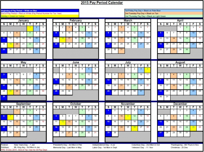 2018 Pay Period Calendar Federal * Calendar Printable Template