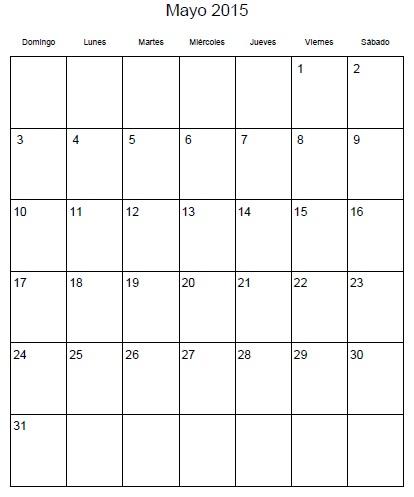Calendario Mes Mayo 2016 Para Imprimir Honduras | Calendar