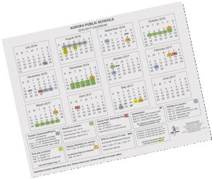 2017 18 and 2018 19 Approved Calendars – Aurora Public Schools