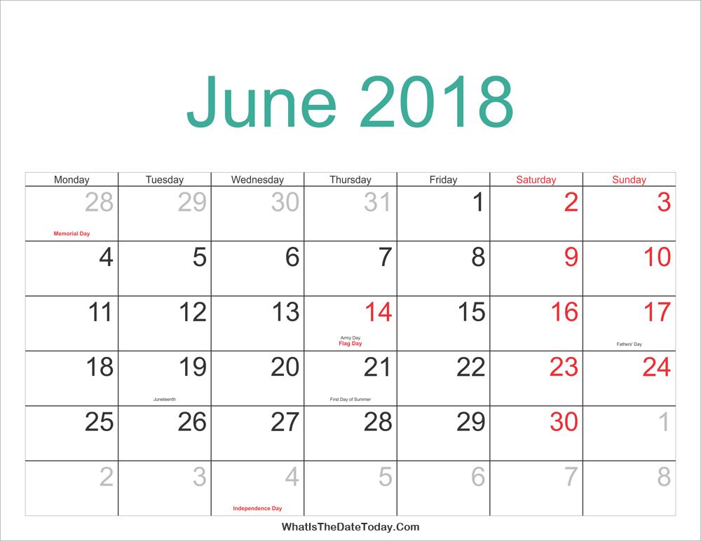 Calendar 2018 Malaysia Cute – 2018 Calendar Template