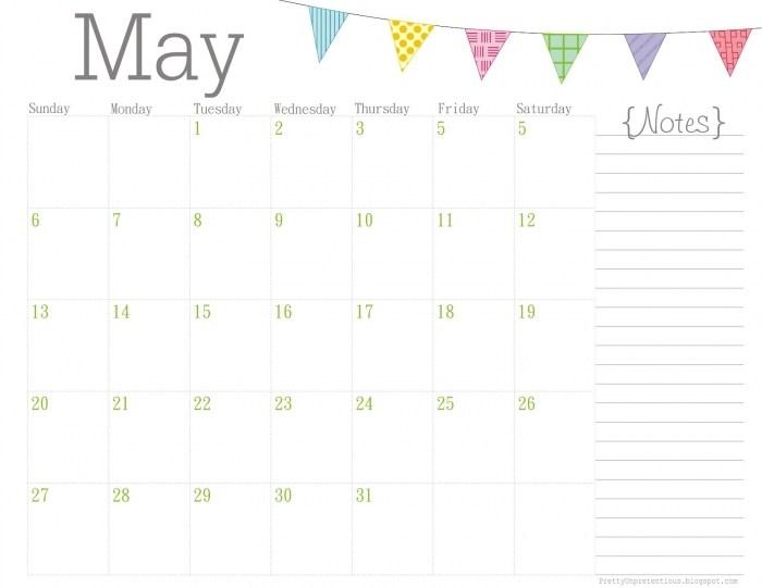 Free Cute Calendar Printables | Printable Calendar