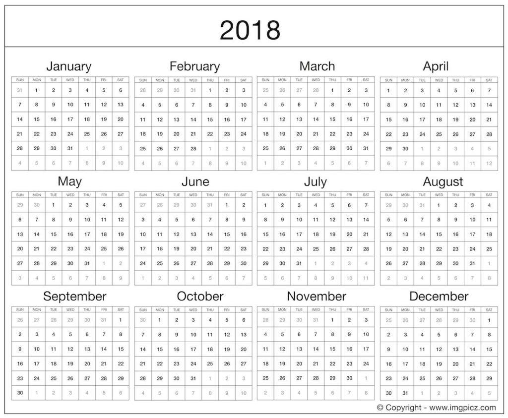 fillable calendar 2018 Jcmanagement.co