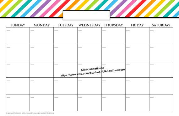 11x17 calendar template free printable calendars 11x17 calendar