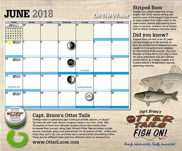 Check Out the New 2018 On The Water Calendar! | On The Water