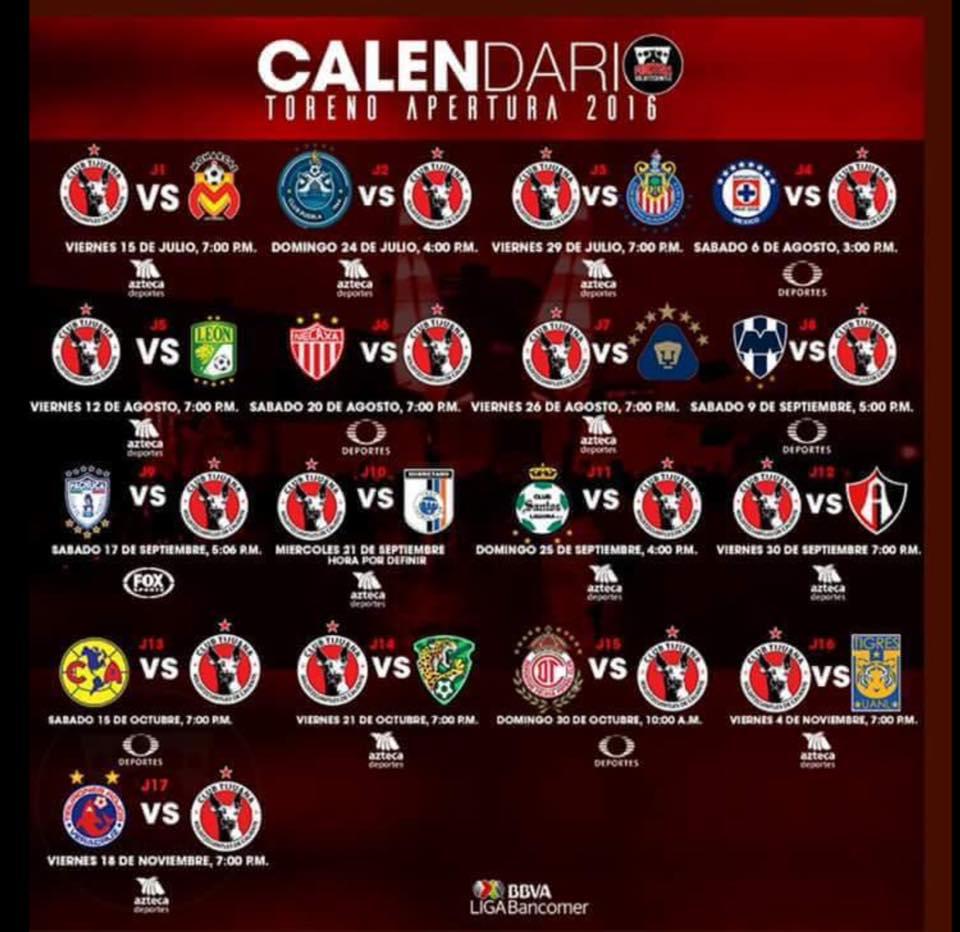 Calendario de juegos del equipo Toros de Tijuana – AGP Deportes