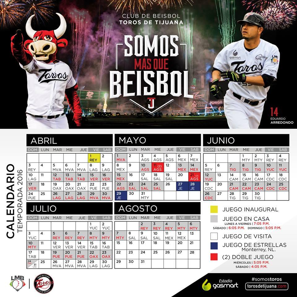 Calendarios personalizados Apertura 2016 Futbol Total