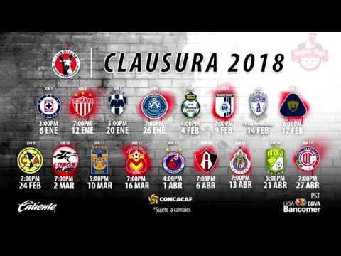 ✓ Xolos Tijuana | Calendario Oficial Clausura 2018 | Liga Mx