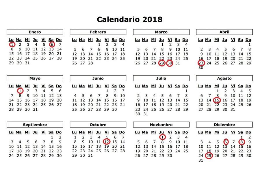 Vacaciones, festivos y todas las fechas del calendario escolar