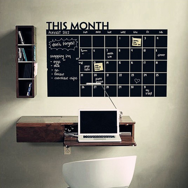 60*92cm PVC Material Home Office Decor Chalk Board Blackboard