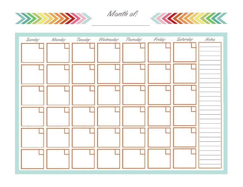 Full Page Printable Calendar | calendar month printable