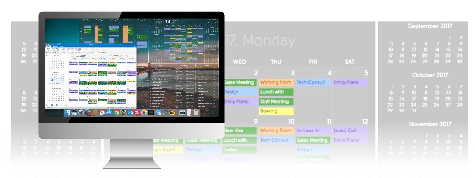 DejaDesktop Calendar Wallpaper Put a Calendar on your Windows