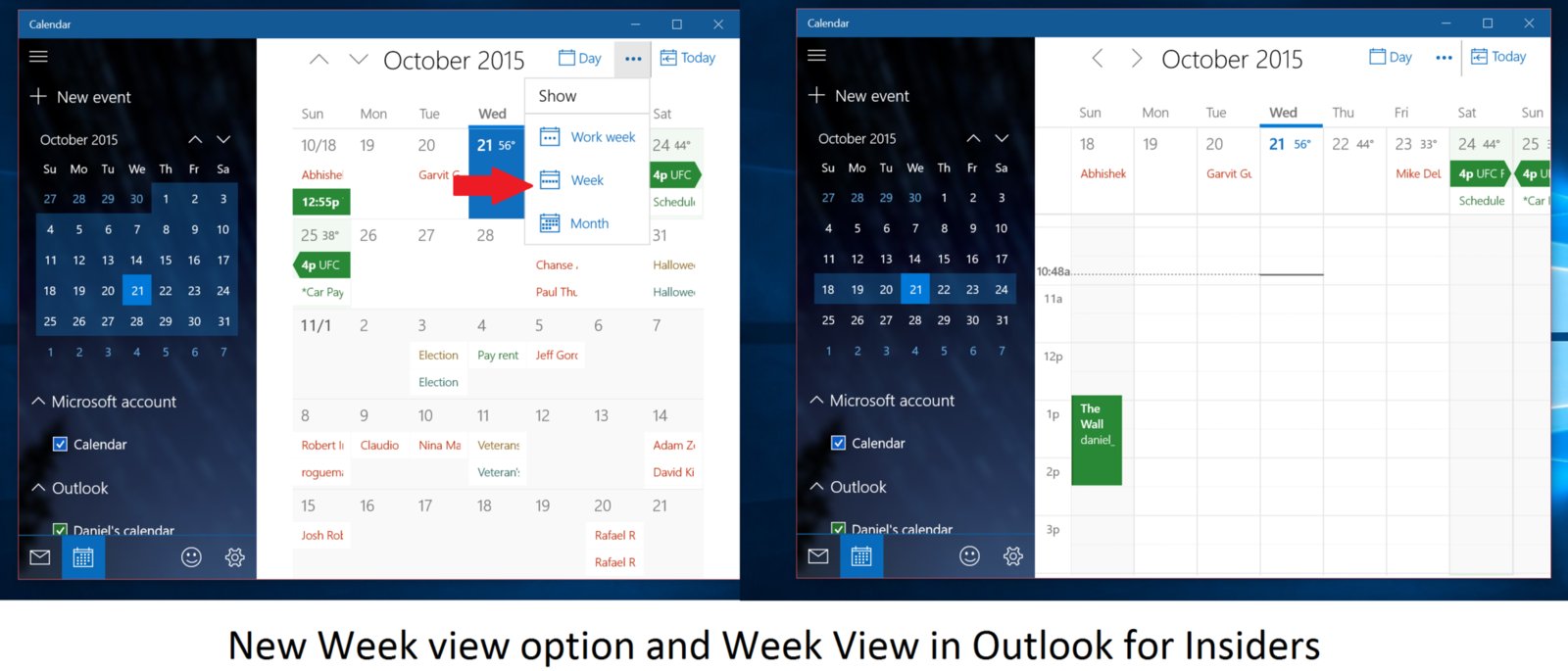 Outlook Mail and Calendar app for Windows 10 PC and Mobile updated