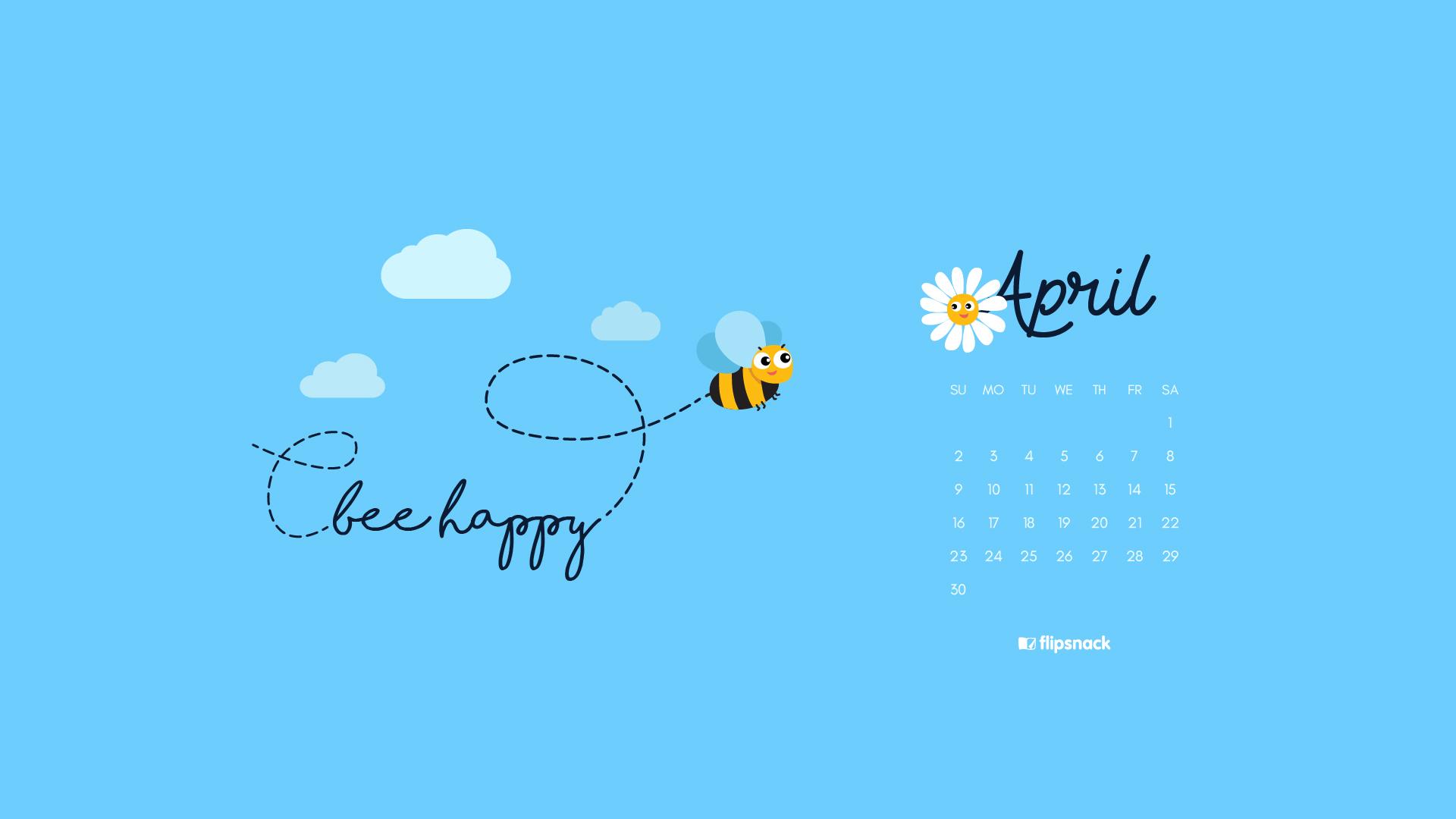 Freebie: April 2017 wallpaper calendar desktop background