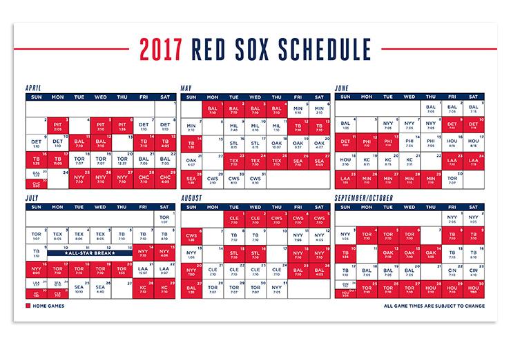 Red Sox Schedule 2018 Calendar Printable | Calendar Template 2018