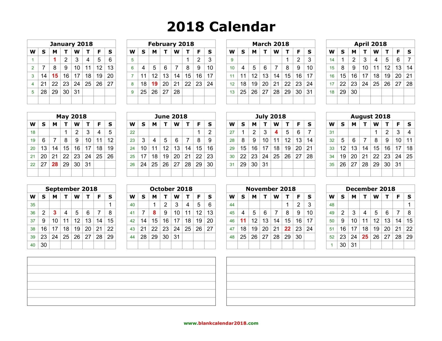 Blank February Calendar 2018 Editable | Whatisthedatetoday.Com