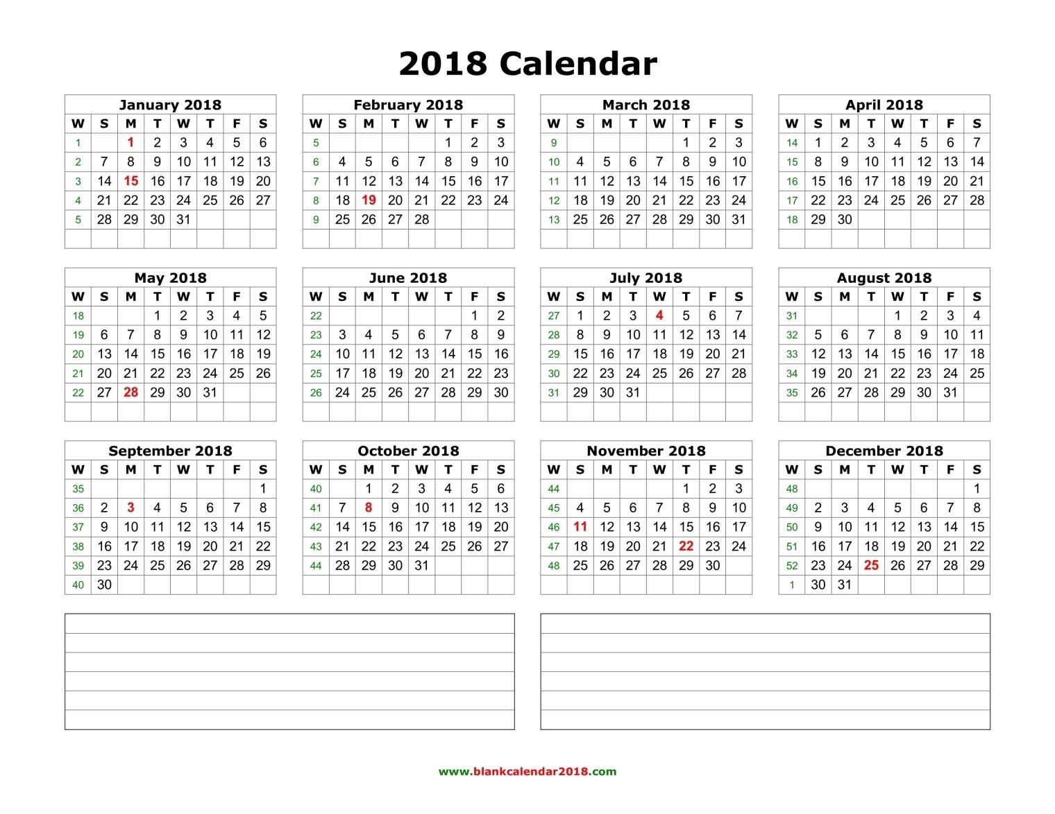Blank February Calendar 2018 Editable | Whatisthedatetoday.Com