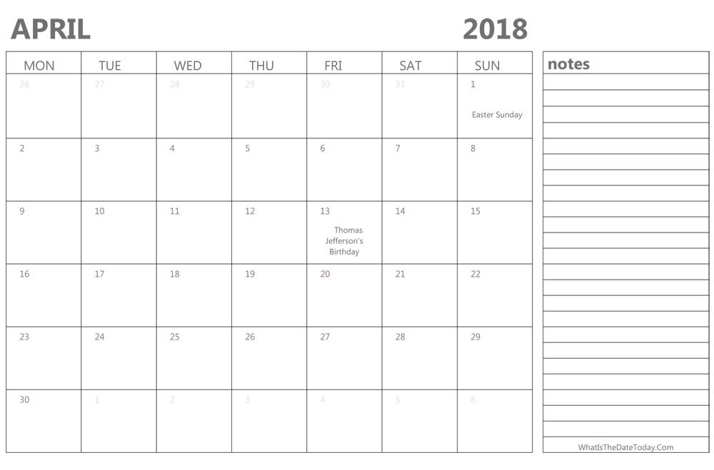 Free 2018 Excel Calendar Blank and Printable Calendar XLS