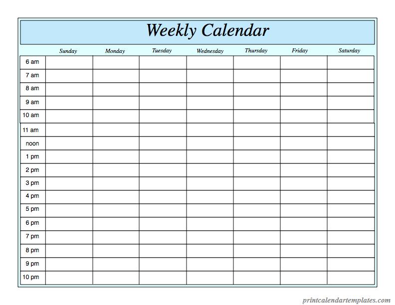 2018 weekly calendar template weekly calendar 2018 printable free