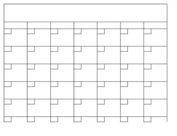 Best Photos of Blank Calendar Template Excel 11 X 14 Blank