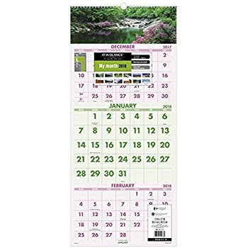 Tallon 3806) 2018 A3 2 Column Easy View 1 Month To View Calendar