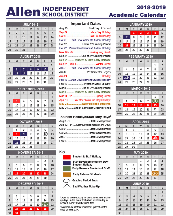Academic School Year Calendar / School Calendars
