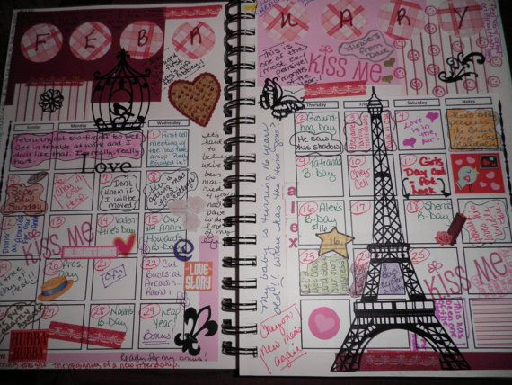 Art Journal Page Calendar Doodling With Distress Markers YouTube