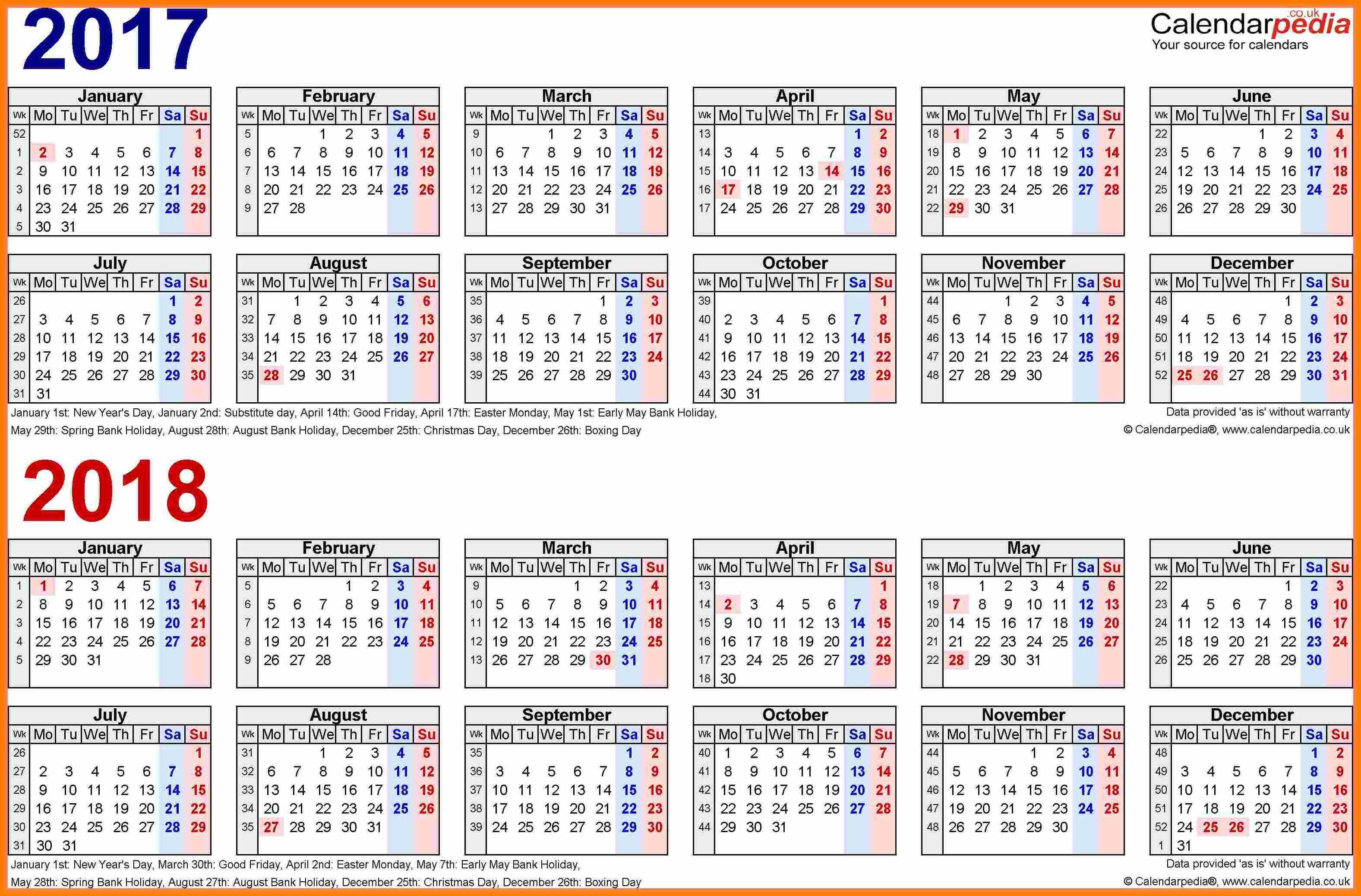 2018 biweekly payroll calendar template Ideal.vistalist.co