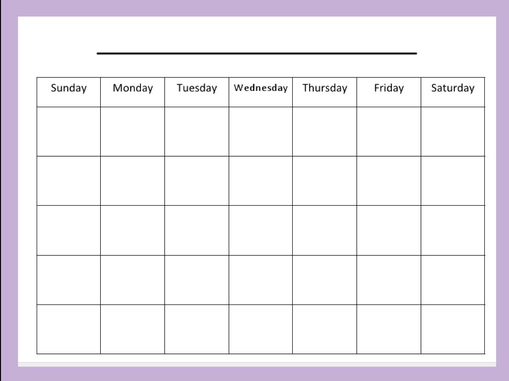 Blank Activity Calendar Free Calendar 2017 2018 – Printable