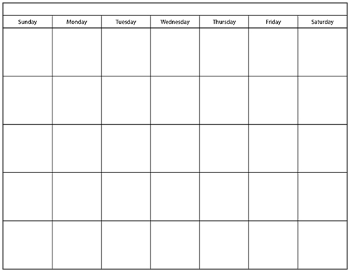 printable blank calendars Ideal.vistalist.co