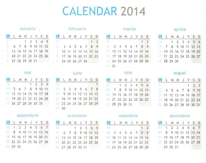 Calendar 2016 Cu Saptamanile * Calendar Printable Template