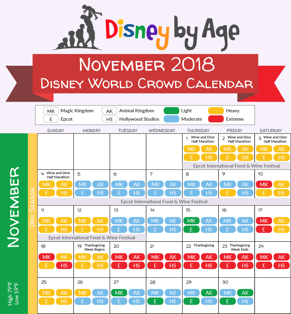 Disney World 2018 2019 crowd calendar (best times to visit)