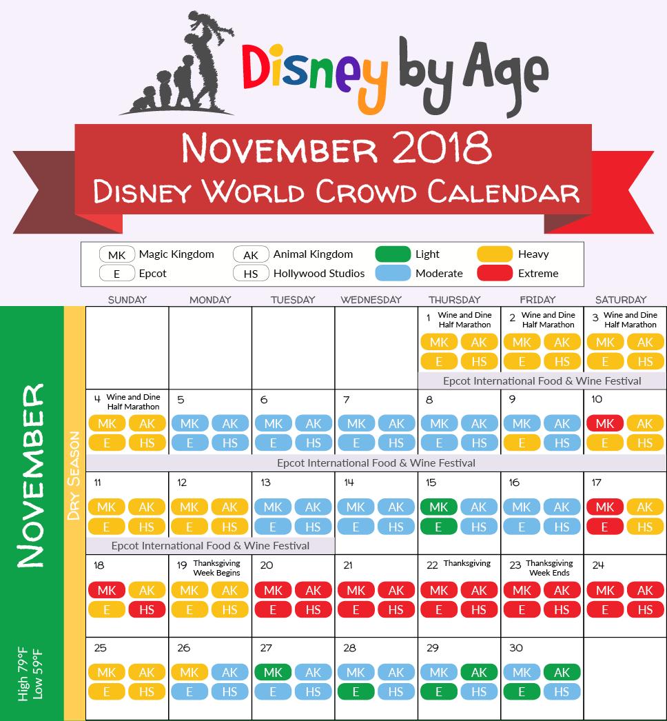 Disney World 2018 2019 crowd calendar (best times to visit)