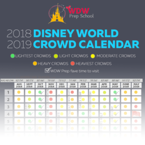 Dad's Walt Disney World Crowd Calendars for 2018 and 2019