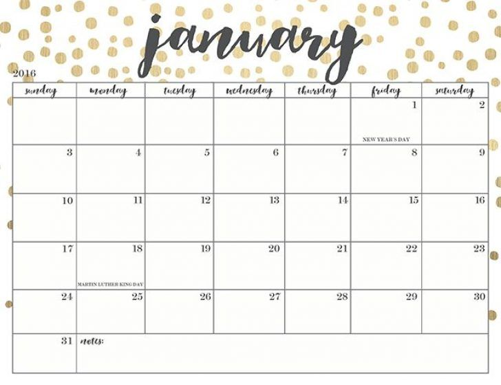cute printable calendars 2018 monthly free | January 2018 Calendar