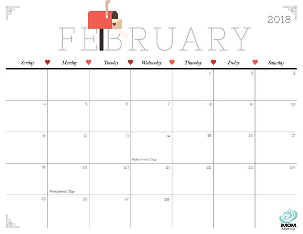 Cute and Crafty 2018 Calendar iMom