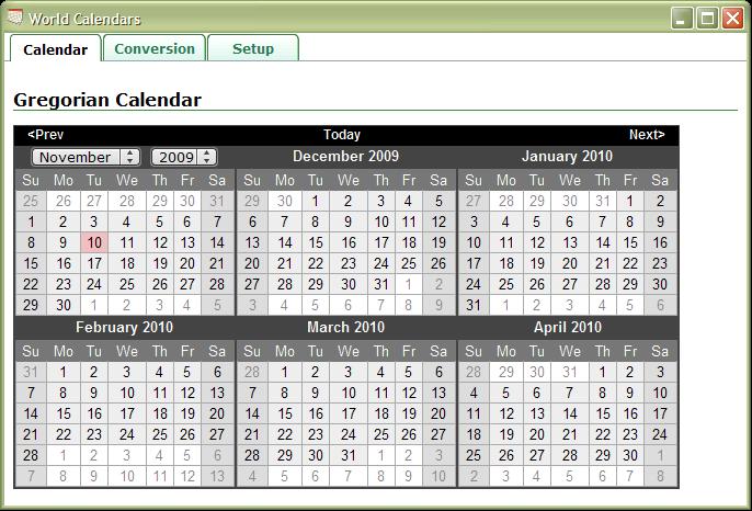 jQuery Calendars