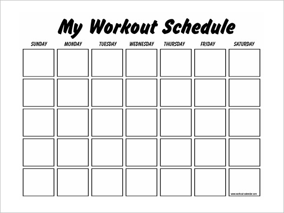 fitness calendar template workout schedule template 17 free word