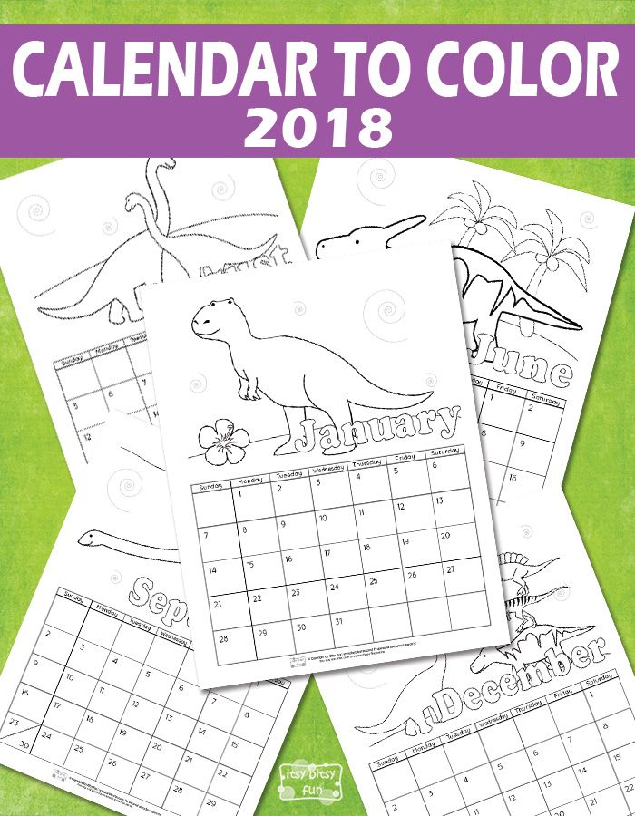 Printable Calendar for Kids 2018 | Free printable, Activities and