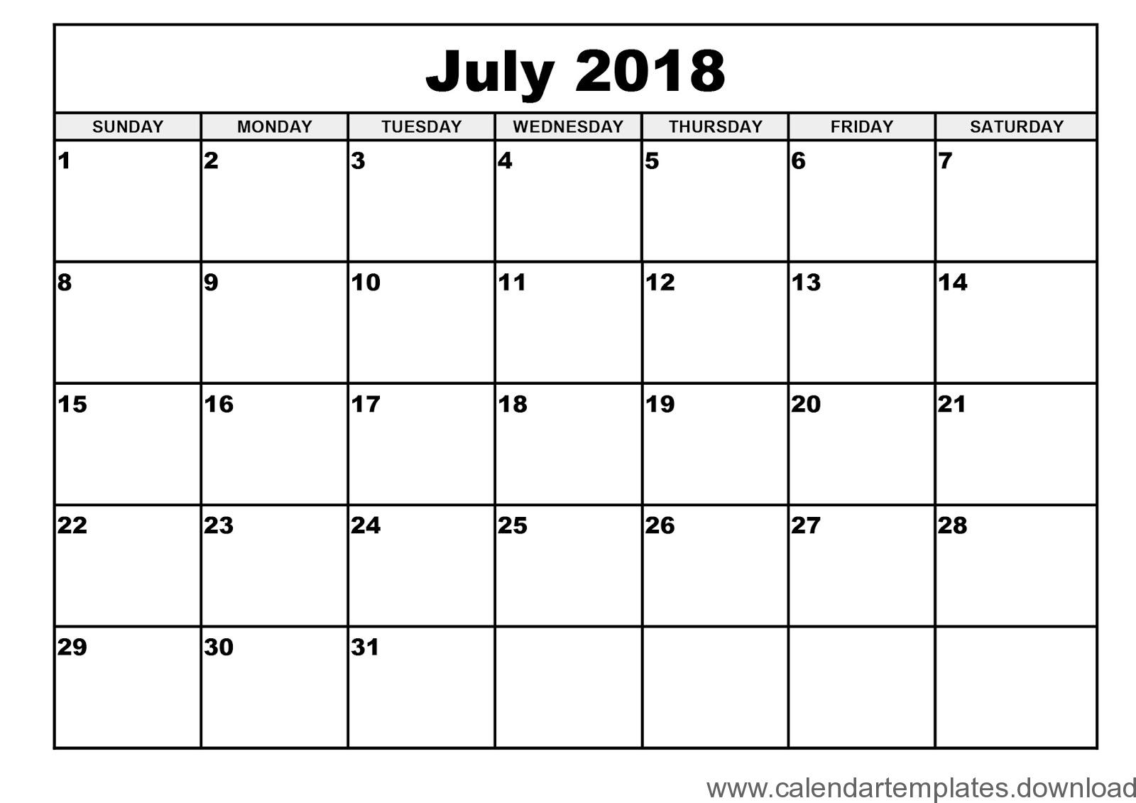 july 2018 template Ideal.vistalist.co