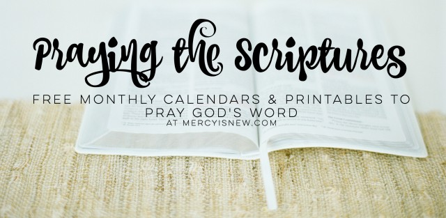 Monthly Prayers & Printables – His Mercy is New