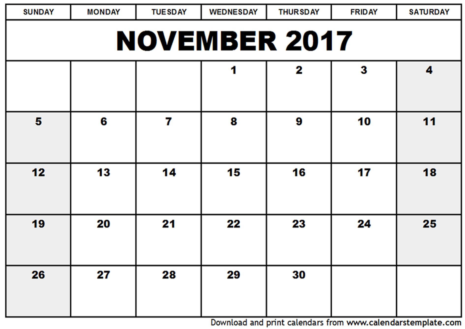 november calendar page Ideal.vistalist.co